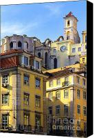 Old Houses Canvas Prints - Lisbon Buildings Canvas Print by Carlos Caetano