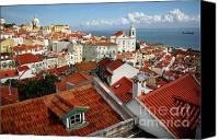 Old Houses Canvas Prints - Lisbon Rooftops Canvas Print by Carlos Caetano