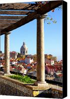 Old Houses Canvas Prints - Lisbon View Canvas Print by Carlos Caetano
