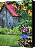 Barn Photo Canvas Prints - Litchfield Hills Summer Scene Canvas Print by Thomas Schoeller
