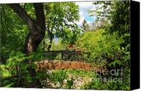 Ashland Canvas Prints - Lithia Park Bridge Canvas Print by James Eddy