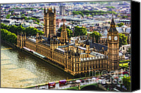 Photomanipulation Photo Canvas Prints - Little Ben Canvas Print by Andrew Paranavitana