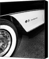 Auction Canvas Prints - Little Black Corvette Canvas Print by William Dey