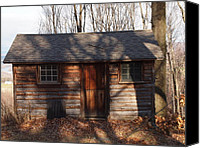 Farm In Woods Photographs Canvas Prints - Little Cabin In The Woods Canvas Print by Robert Margetts