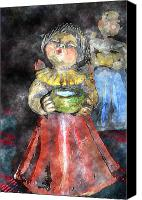 Porridge Canvas Prints - Little Christmas Angel-Abstract Canvas Print by Patricia Motley