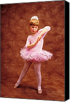 Child Photo Canvas Prints - Little dancer Canvas Print by Garry Gay
