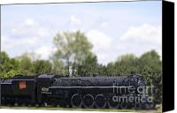 Miniature Effect Canvas Prints - Little Engine Canvas Print by Traci Cottingham