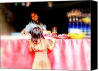 Shopping Canvas Prints - Little Girl Candy Shopping in Ubud  Canvas Print by Funkpix Photo  Hunter