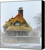 Haunted House Photo Canvas Prints - Little House on the Corner Canvas Print by Alex Hardie