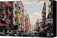 Nyc Canvas Prints - Little Italy Canvas Print by Benjamin Matthijs