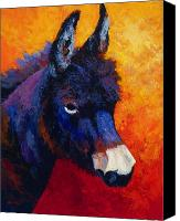 Donkey Painting Canvas Prints - Little Jack - Burro Canvas Print by Marion Rose