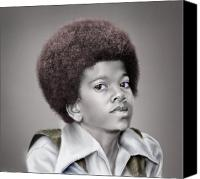 Singer Painting Canvas Prints - Little Michael Canvas Print by Reggie Duffie