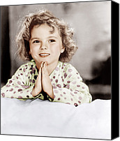 Pajamas Canvas Prints - Little Miss Marker, Shirley Temple, 1934 Canvas Print by Everett