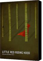 Color Digital Art Canvas Prints - Little Red Riding Hood Canvas Print by Christian Jackson