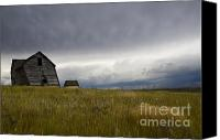 Saskatchewan Canvas Prints - Little Remains Canvas Print by Bob Christopher