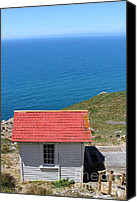 Headlands Canvas Prints - Little Shack At The Point Reyes Lighthouse in California . 7D16020 Canvas Print by Wingsdomain Art and Photography