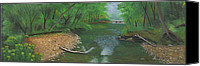 Bridge Pastels Canvas Prints - Little Shoal Creek Canvas Print by Garry McMichael