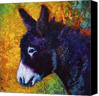 Donkey Painting Canvas Prints - Little Sparky Canvas Print by Marion Rose