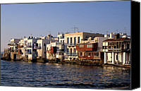 Cyclades Canvas Prints - Little Venice during sunset Canvas Print by George Atsametakis