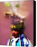 Pow Wow Canvas Prints - Little Warrior Canvas Print by Terril Heilman