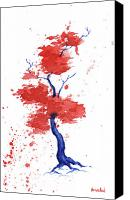 Independence Day Painting Canvas Prints - Little Zen Tree 293 Canvas Print by Sean Seal