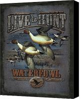 Waterfowl Canvas Prints - Live to Hunt Pintails Canvas Print by JQ Licensing