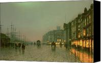 Atkinson Canvas Prints - Liverpool Docks from Wapping Canvas Print by John Atkinson Grimshaw