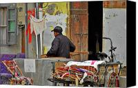 Cycle Canvas Prints - Living the old Shanghai life Canvas Print by Christine Till