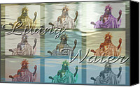 Terry Wallace Digital Art Canvas Prints - Living Water 2 Canvas Print by Terry Wallace