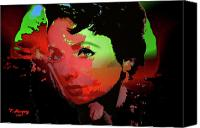 Elizabeth Taylor Canvas Prints - Liz - A Place in the Sun Canvas Print by Tony Marquez