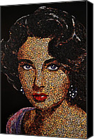 Elizabeth Taylor Mixed Media Canvas Prints - Liz Canvas Print by Doug Powell