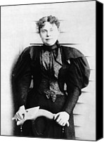 1890s Portrait Canvas Prints - Lizzie Borden, Acquitted Suspect Canvas Print by Everett