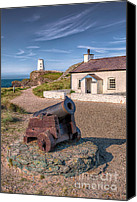 Cannon Canvas Prints - Llanddwyn Cannon Canvas Print by Adrian Evans