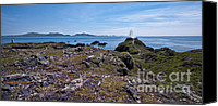 Lighthouses Canvas Prints - Llanddwyn Island Canvas Print by Meirion Matthias