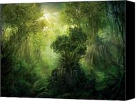 Landscape Canvas Prints - Llanowar Reborn Canvas Print by Philip Straub