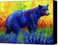 Cub Canvas Prints - Loafing in the Lupin Canvas Print by Marion Rose