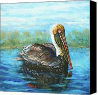 Pelican Canvas Prints - Lobservateur Canvas Print by Dianne Parks