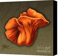 Mushroom Drawings Canvas Prints - Lobster Mushroom Canvas Print by Marshall Robinson