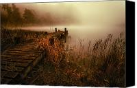 Co Canvas Prints - Loch Ard early morning mist Canvas Print by John Farnan