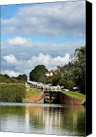 Barge Canvas Prints - Lock gates Canvas Print by Jane Rix