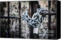 Fences Canvas Prints - Locked Out Again Canvas Print by Joan Carroll