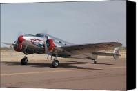 Casa Grande. Canvas Prints - Lockheed 12A Electra Junior NC18906Casa Grande Airport Arizona March 5 2011 Canvas Print by Brian Lockett