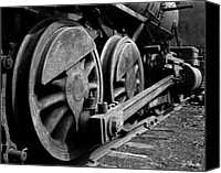 Wheels Canvas Prints - Locomotive Canvas Print by Joe Bonita