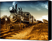 Flags Canvas Prints - Locomotive Number 4 Canvas Print by Bob Orsillo