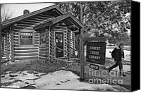 Log Cabin Canvas Prints - Log cabin library 11 Canvas Print by Jim Wright