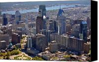 Philadelphia Skyline Canvas Prints - Logan Center City Philadelphia Canvas Print by Duncan Pearson