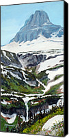 Wilderness Digital Art Canvas Prints - Logan Pass Canvas Print by Mary Giacomini