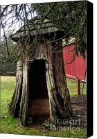 Bruster Canvas Prints - Loggers Outhouse Canvas Print by Clayton Bruster