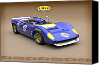 Roger Canvas Prints - Lola T70 Sunoco Special-Sepia Canvas Print by Pete Chadwell