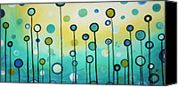 Licensing Canvas Prints - Lollipop Field by MADART Canvas Print by Megan Duncanson